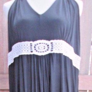 Ashley Stewart Dress Halter Floral Full length